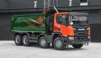 SCANIA и GRUNWALD представили новый тяжелый самосвал Scania P440 P 8×4 HZ Box-Type
