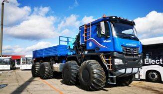 КАМАЗ представил свой новый грузовик-вездеход КАМАЗ-Арктика 8×8